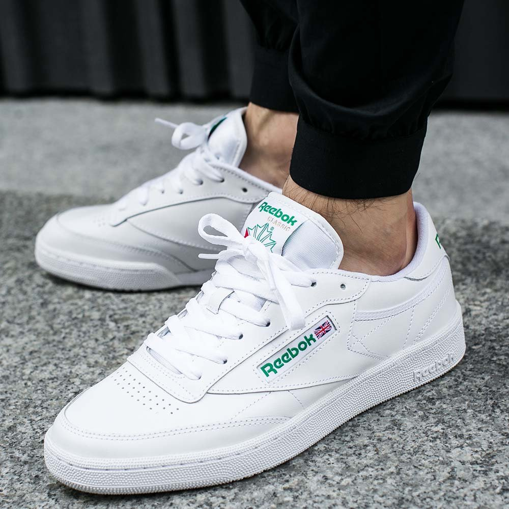 reebok club c 85 white green under retail sneaker shouts. Black Bedroom Furniture Sets. Home Design Ideas