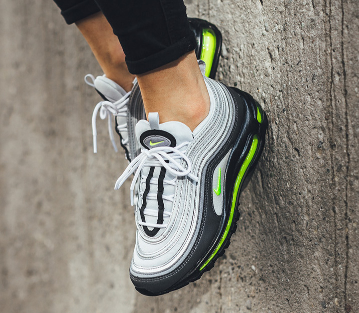 air max 97 grey and neon green