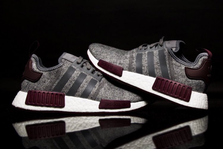 New Adidas NMD R1 Grey Red Wool 3M Reflective S31510 Men's