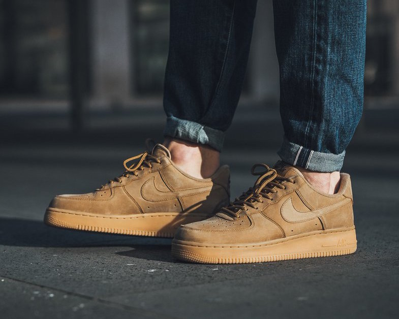 low top wheat air force 1