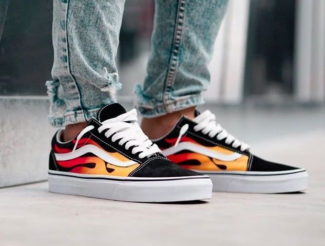vans old school flame