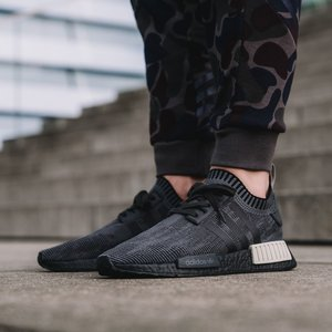 Adidas NMD R1 Black Wool Size 12 DOPEFOOT Cheap NMD Shoes