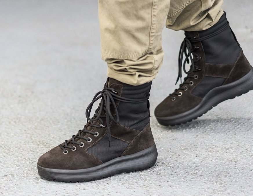 buy online aeea5 7c019 On Sale  Yeezy Suede Military Boot