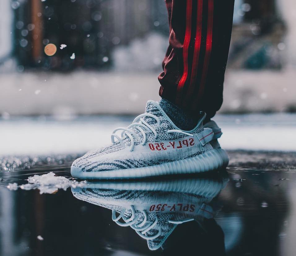 Cheap Replica New Yeezy Boost 350 V2 Blue Tint / Grey Three / High