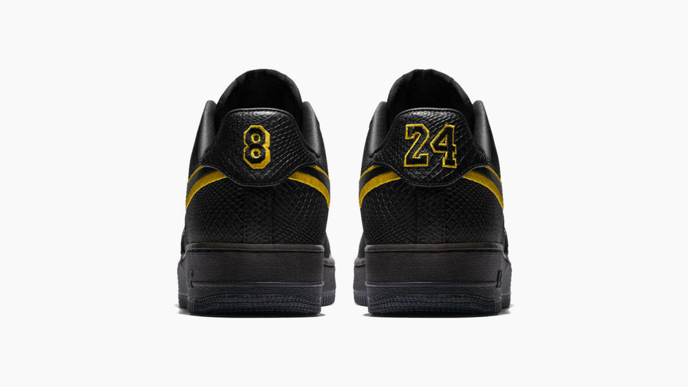 ed7507bee52 ... discount code for now available nike air force 1 low id black mamba  u2014 sneaker shouts