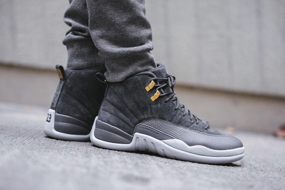 grey retro jordan 12