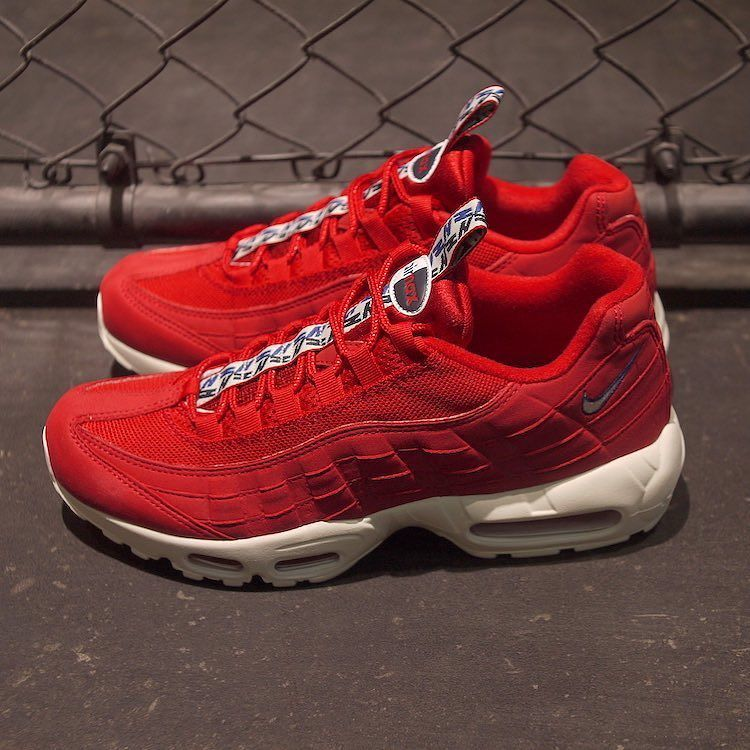 Now Available Nike Air Max 95 Pull Tab Red Sneaker Shouts