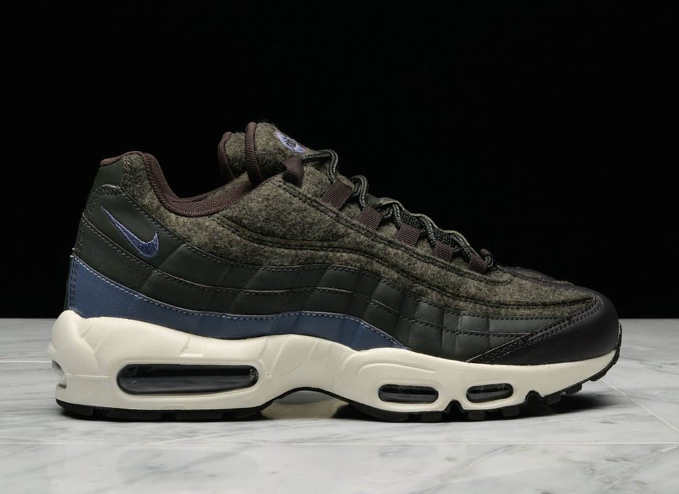 huge selection of b7cdc 09ff4 ... france on sale nike air max 95 premium wool sequoia u2014 sneaker  shouts e7dd3 af56d ...