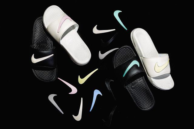 566d83ad5b62 Now Available  Nike Benassi Slides Velcro QS