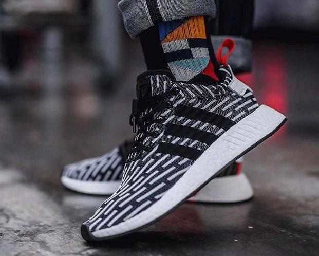 Adidas Nmd R2 Pk White Black Under Retail Sneaker Shouts