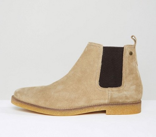 Ferdinand Suede Chelsea Boots - Black Base London jiaxzn