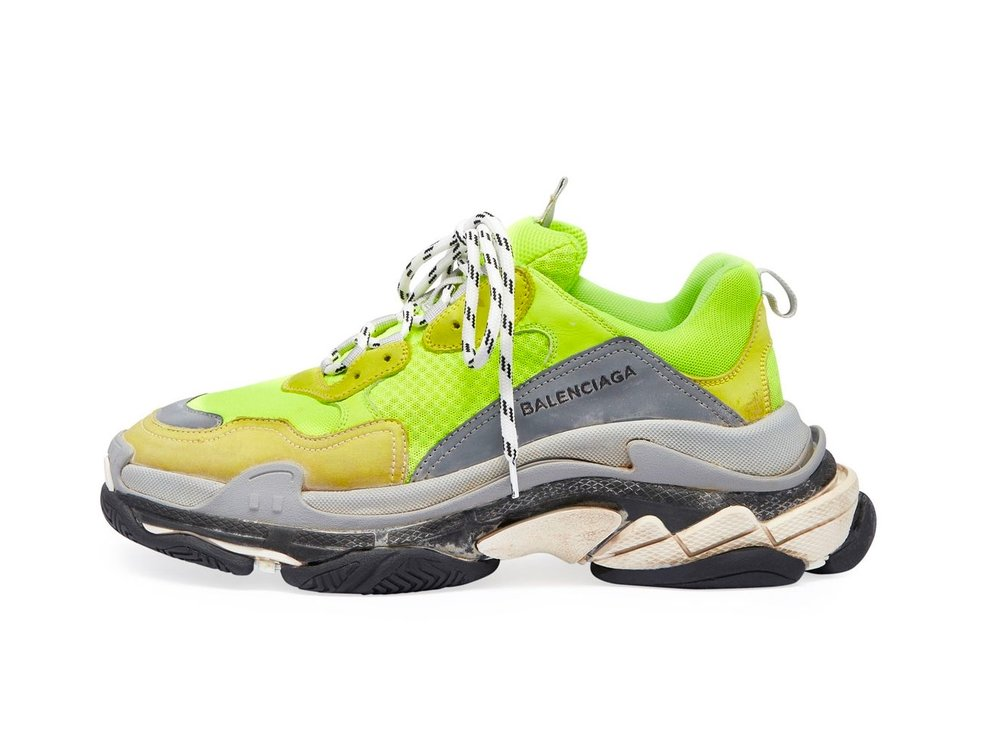Sneaker Retro Maintenant Fluo disponible Jaune Balenciaga Shouts Triple S zz70Iq