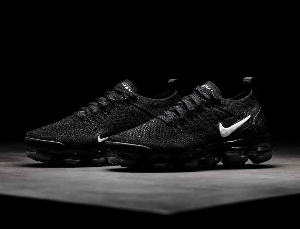 buy online 4aa80 b84d3 nike air vapormax flyknit 2 all black