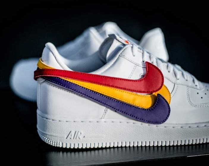 nike air force 1 orange swoosh