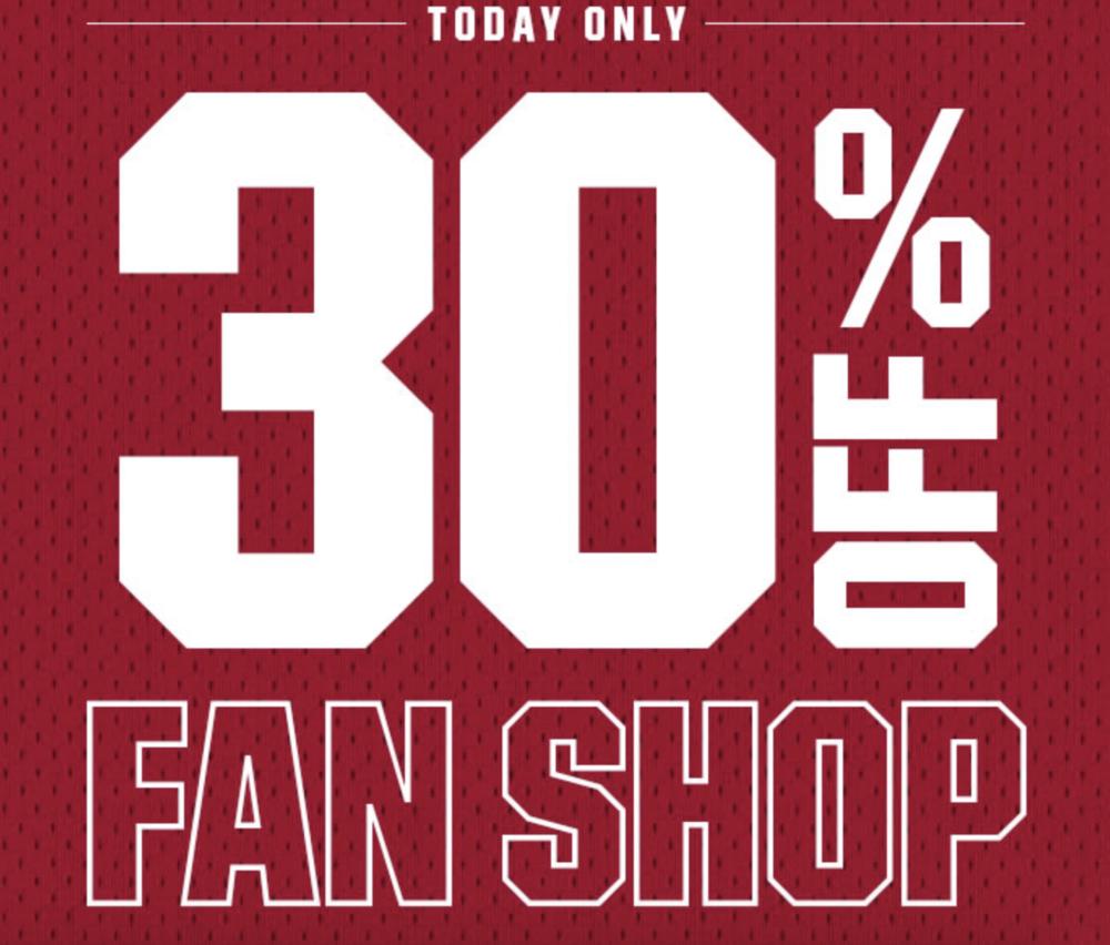 504a4e4ffa7 Flash Sale: 30% OFF NBA, NFL, and NCAA Apparel — Sneaker Shouts