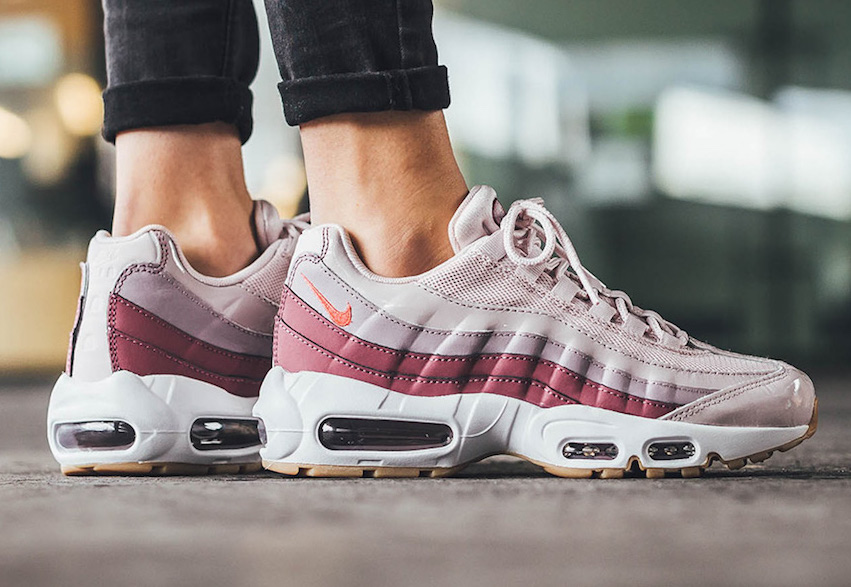 Nike Air Max 95 SE Red Stardust Pink White Iridescent Womens