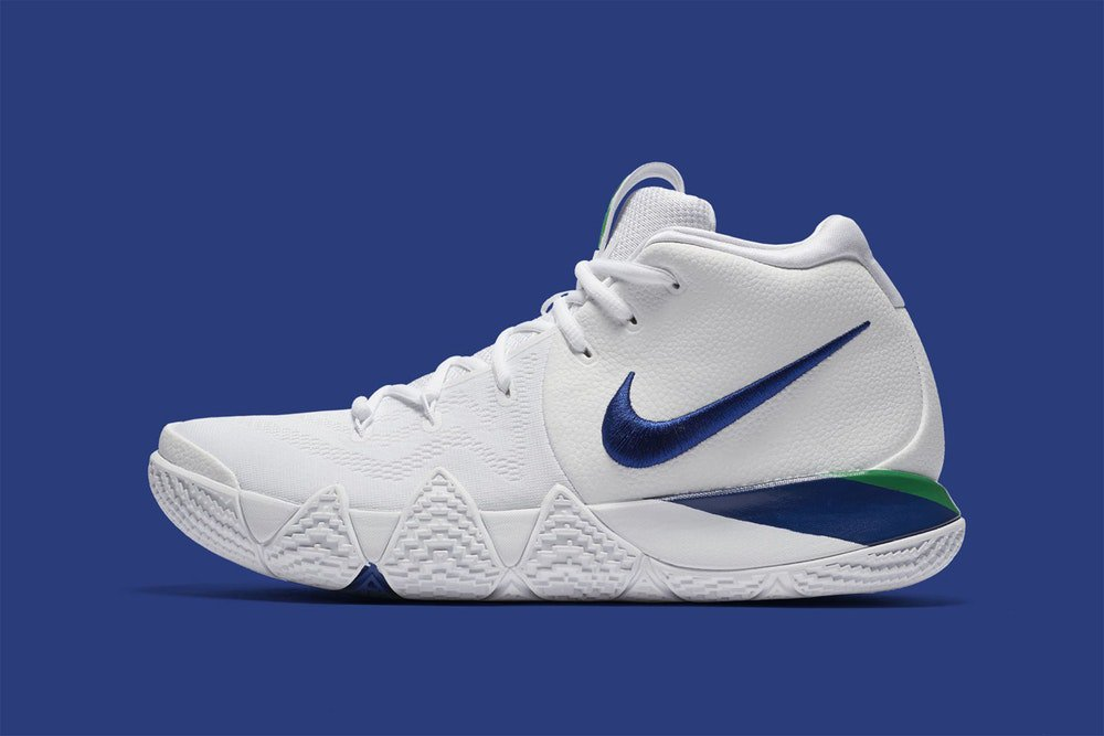 Nike Kyrie 4 White Deep Royal  Free Shipping
