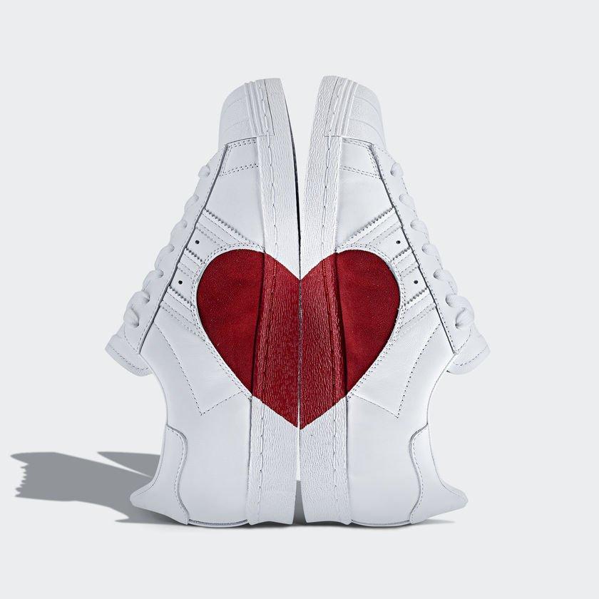 adidas superstar 80s half heart