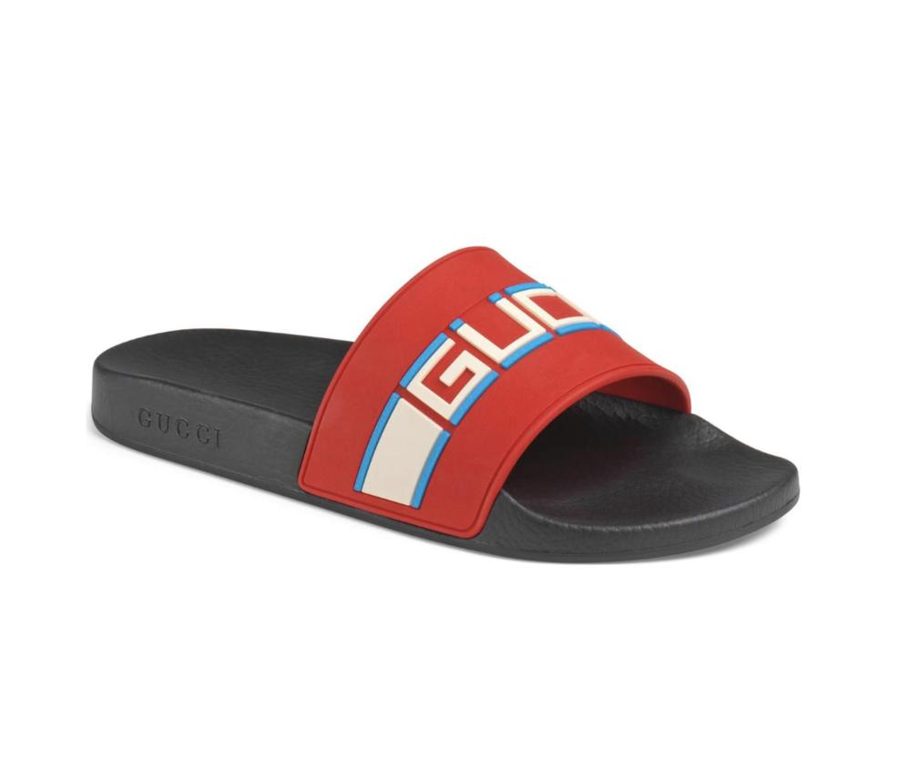 33a640366 Now Available: Gucci Pursuit SEGA Logo Slides — Sneaker Shouts