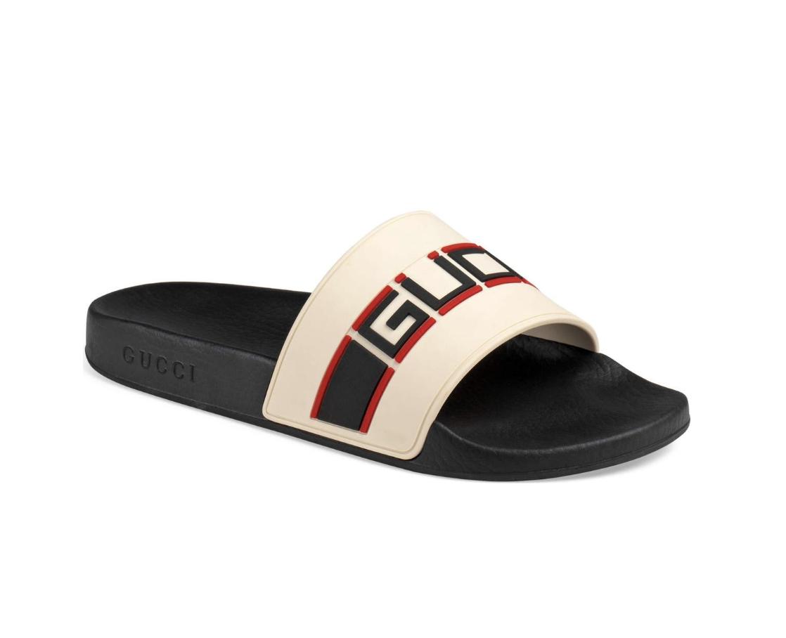 e4741d08a3a4 Now Available  Gucci Pursuit SEGA Logo Slides — Sneaker Shouts