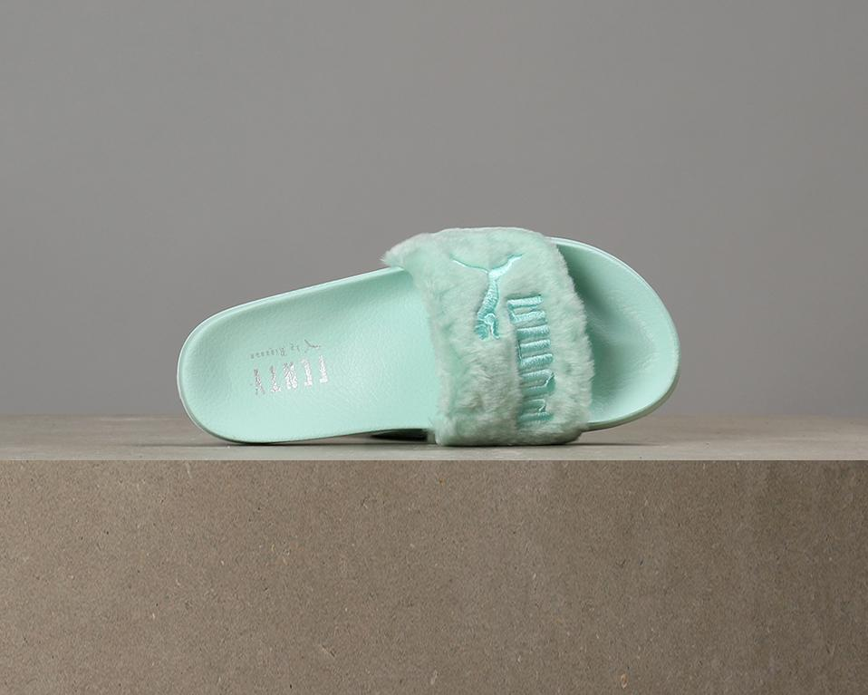 new concept bc870 5eac9 On Sale: Rihanna x Puma Fenty Fur Slides
