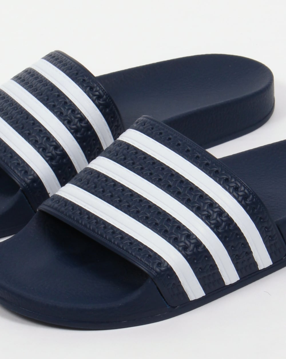 Adidas Sneakers Adilette Sliders Navy White