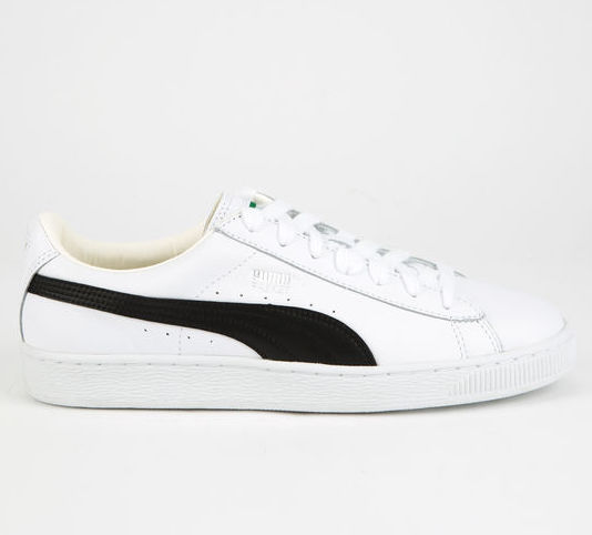 new product 9d243 30c12 puma basket classic white sneakers
