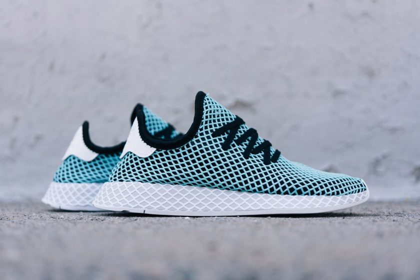 brand new 6cb8a 16a88 Now Available Parley x adidas Deerupt Runner