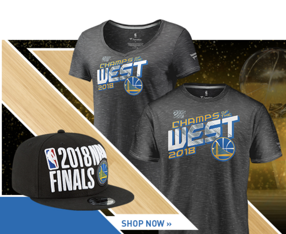 33ce80d5b91a Now Available  2018 Golden State Warriors Western Conference NBA Champs  Apparel — Sneaker Shouts