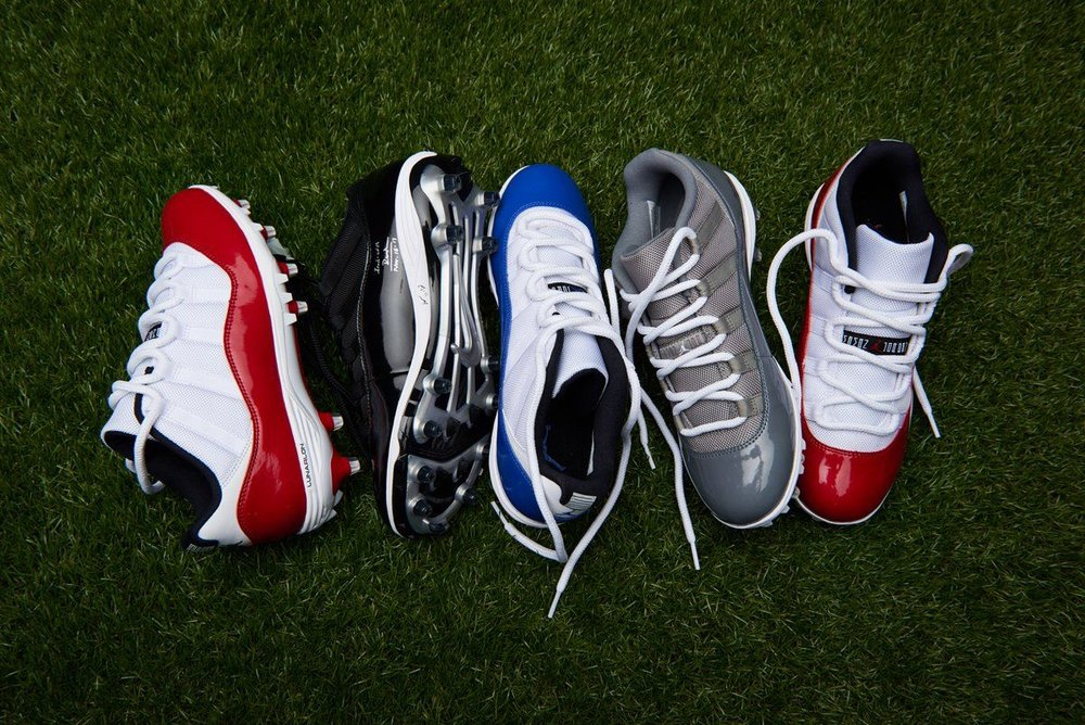 b8cae1292489 On Sale: Air Jordan 11 Retro Football Cleats — Sneaker Shouts