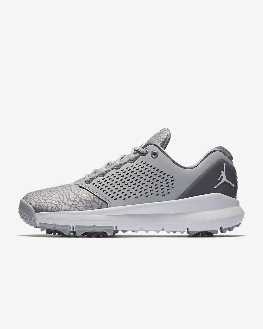 abca57ccaa0 Now Available: Jordan Trainer ST Golf Shoe — Sneaker Shouts