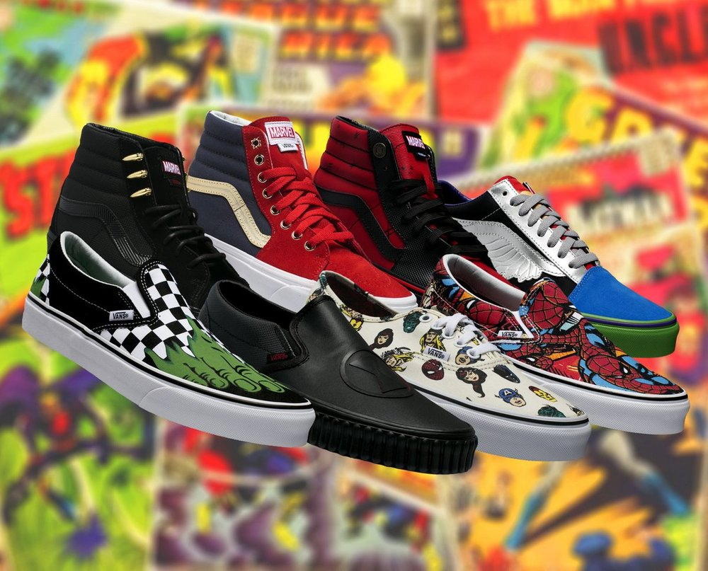 17085b80820d Now Available  Marvel x Vans Skate Footwear + Apparel Collection ...