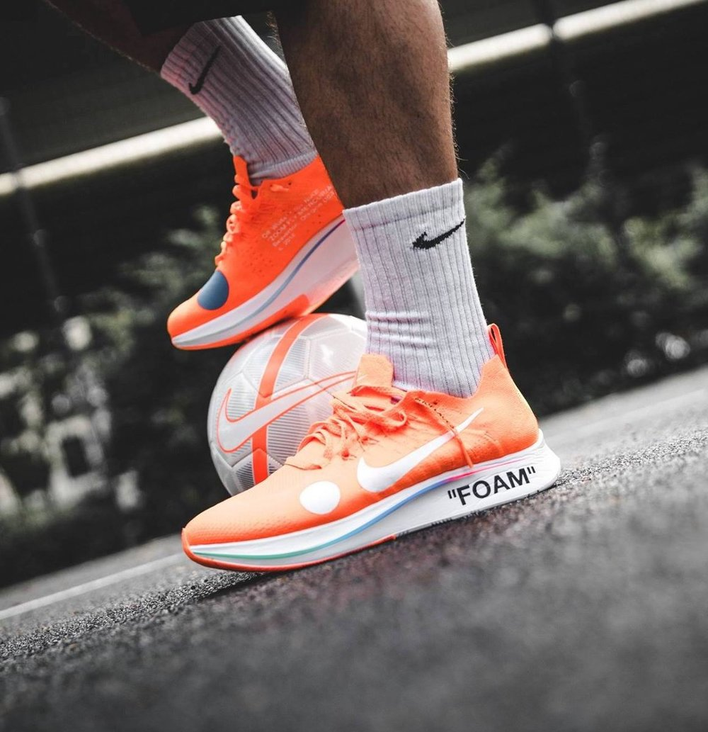 Now Available  OFF-WHITE x Nike Zoom Fly Mercurial