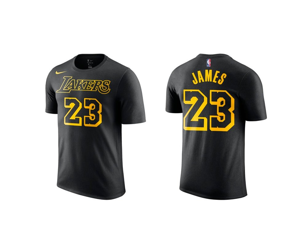 6e4bb77c88d4b Now Available: Nike NBA LeBron James Lakers Jersey T-shirt — Sneaker ...