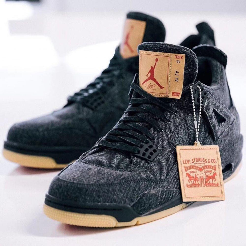 8d6a85f2ddedc Now Available: Levi's x Air Jordan 4 Retro