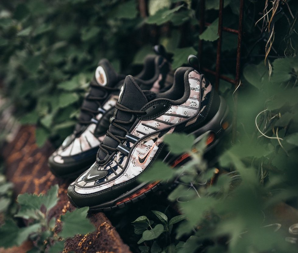check out 97238 3a5e1 Nike Air Max 98. Color  Cargo Khaki Black Desert Sand Sunset Tint Style  Code  AQ6156-300