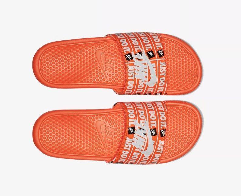 5d63eb528419 On Sale  Nike Benassi Just Do It Logo Slides