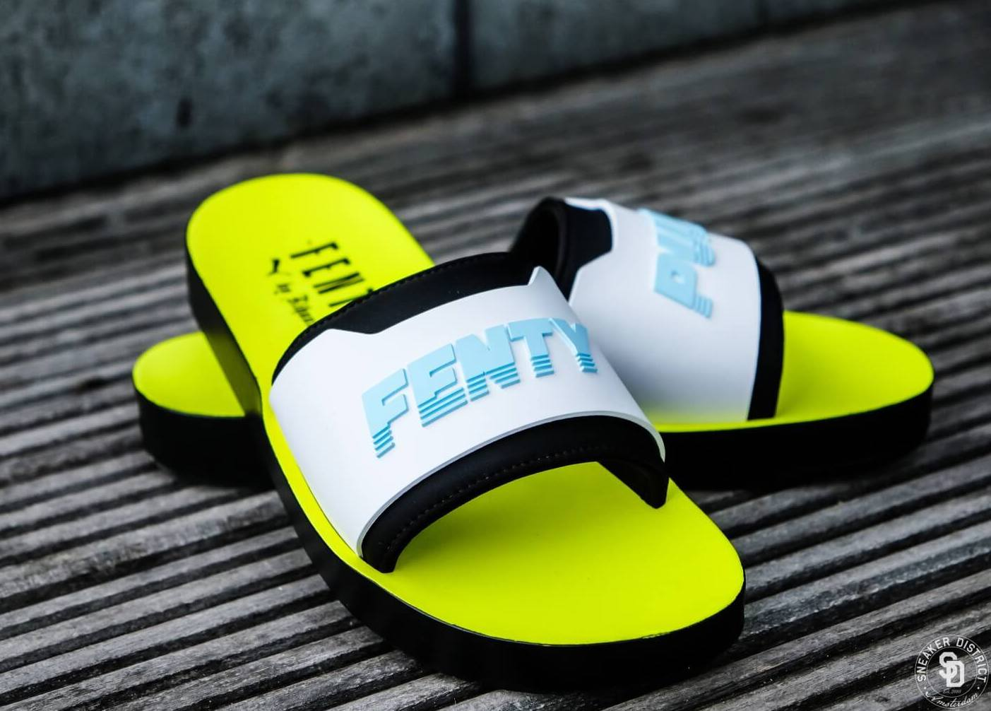 fd46a781ccaf64 On Sale  Puma Fenty Surf Slides — Sneaker Shouts