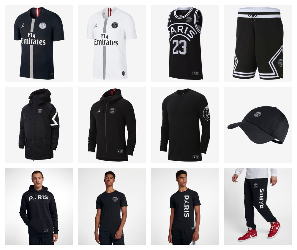 f87b25f6e605 Now Available  PSG x Air Jordan Collection — Sneaker Shouts