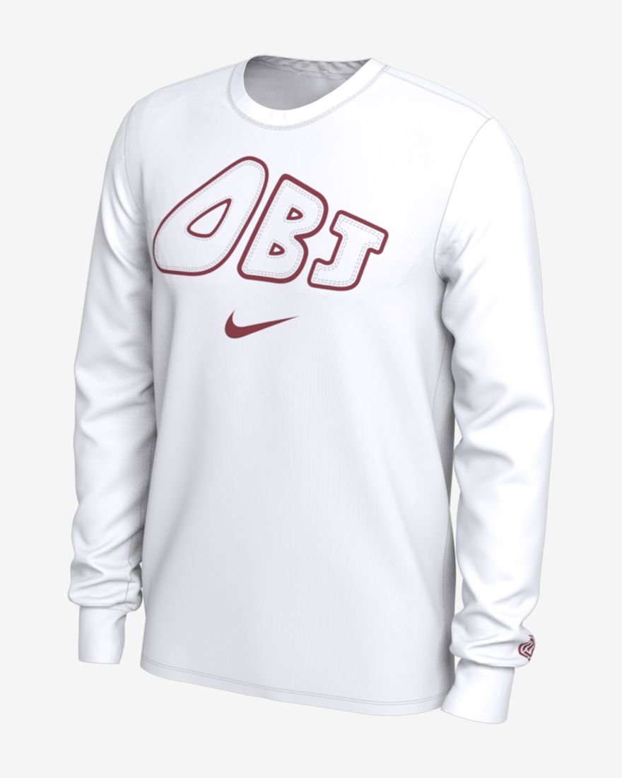 promo code 0e457 3cda5 Now Available: OBJ x Nike Uptempo Long Sleeve Shirt ...