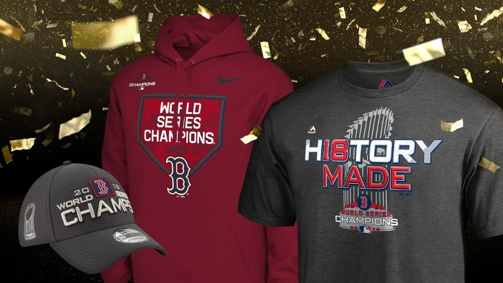 8b6d4393be9 Now Available  2018 Boston Red Sox World Series Champions Apparel — Sneaker  Shouts