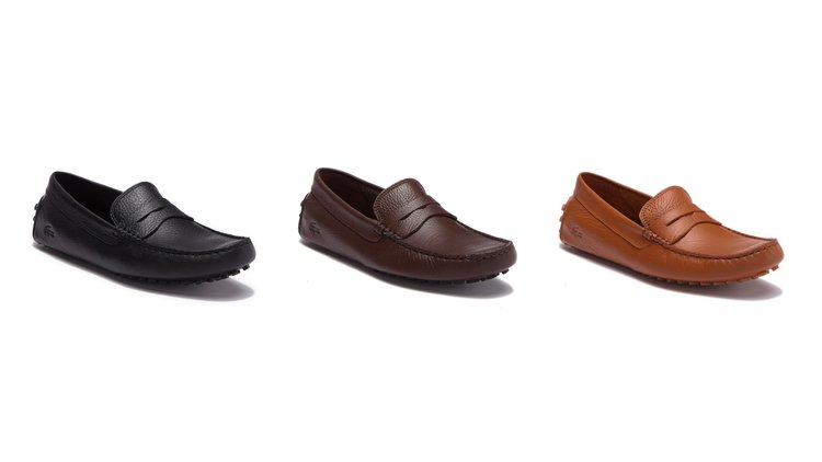 39da645d8ac4dc On Sale  Lacoste Leather Penny Loafers — Sneaker Shouts
