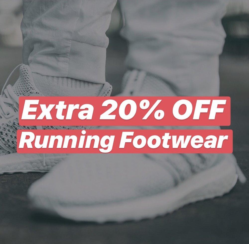 fbb0f219eee Flash Sale: Extra 20% OFF select Running Footwear