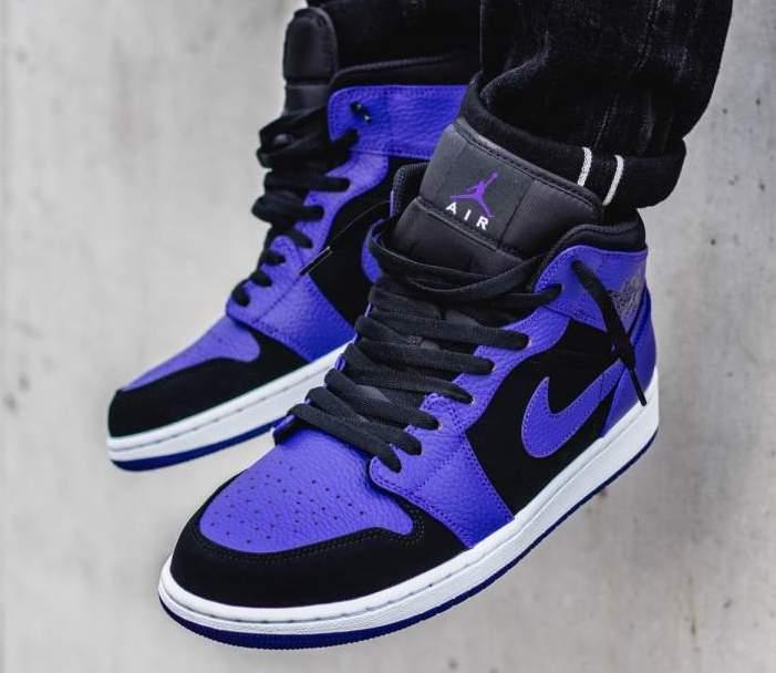 best sneakers 73cd9 45bf4 ... low cost now available air jordan 1 mid dark concord u2014 sneaker  shouts 520b4 07521