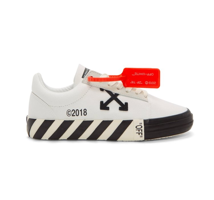 0f74b5aea4550 Now Available  2019 Off-White Vulcanized Sneaker in
