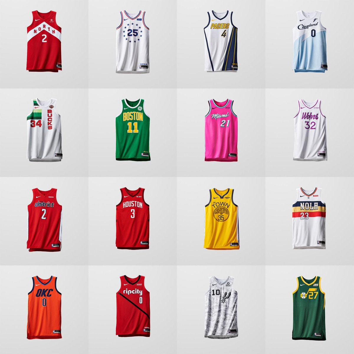 reputable site 26dd6 16e68 Now Available: Nike NBA Earned Edition City Jerseys ...