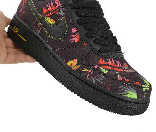 nike air force 1 low black floral