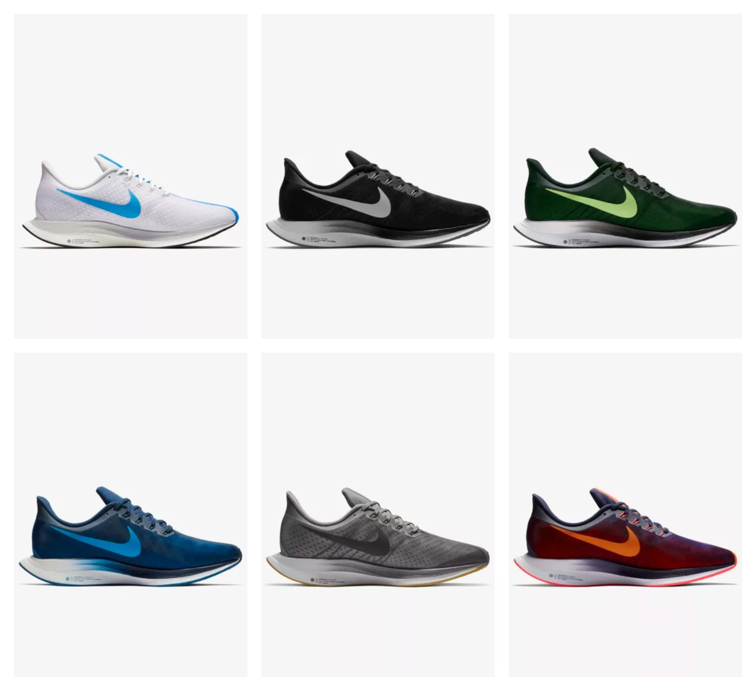 febe587c3fee On Sale  Nike Zoom Pegasus Turbo Colorways