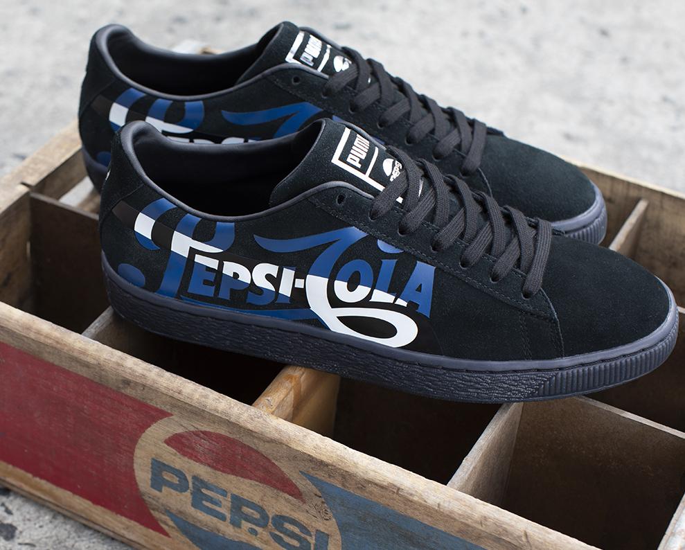 7dc353141c7a On Sale  PEPSI x Puma Suede Classic in Black — Sneaker Shouts
