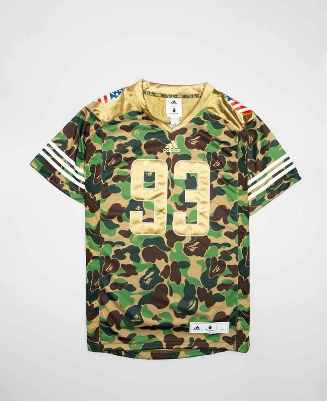97f09139 Restock: BAPE x adidas Football Jersey in Camo — Sneaker Shouts